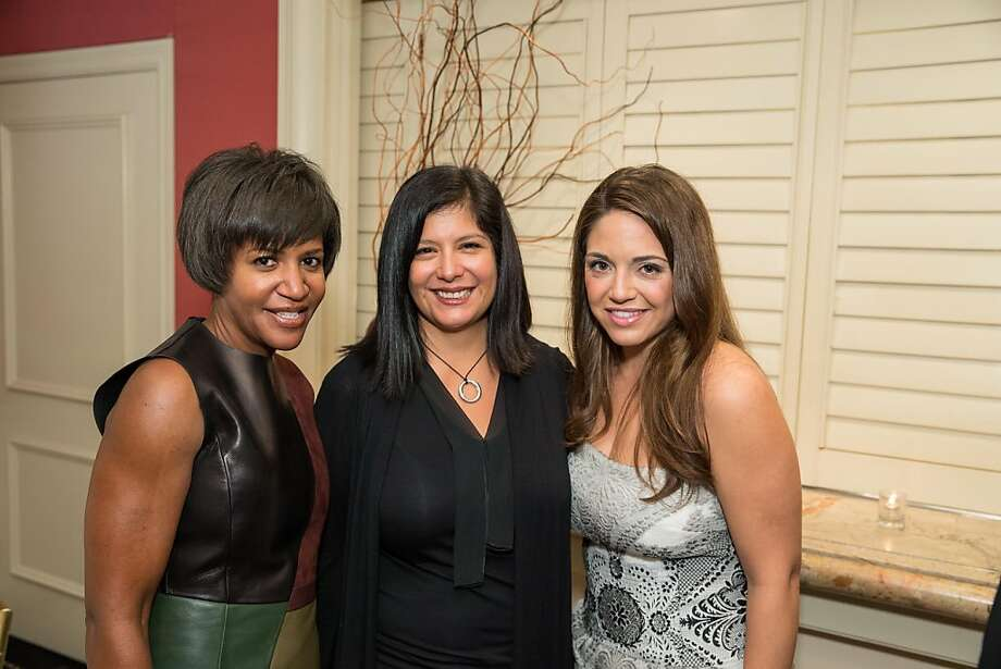 Jeana Toney, Xochi Birch and Jacqueline Sacks at ModeWalk's Spring Fashion Show and Luncheon on March 26, 2013. Photo: Drew Altizer Photography