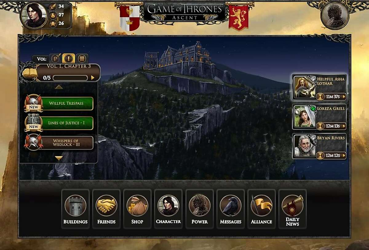 Game of Thrones Ascent, a Facebook social game based on the Game of Thrones novels by George R.R. Martin.