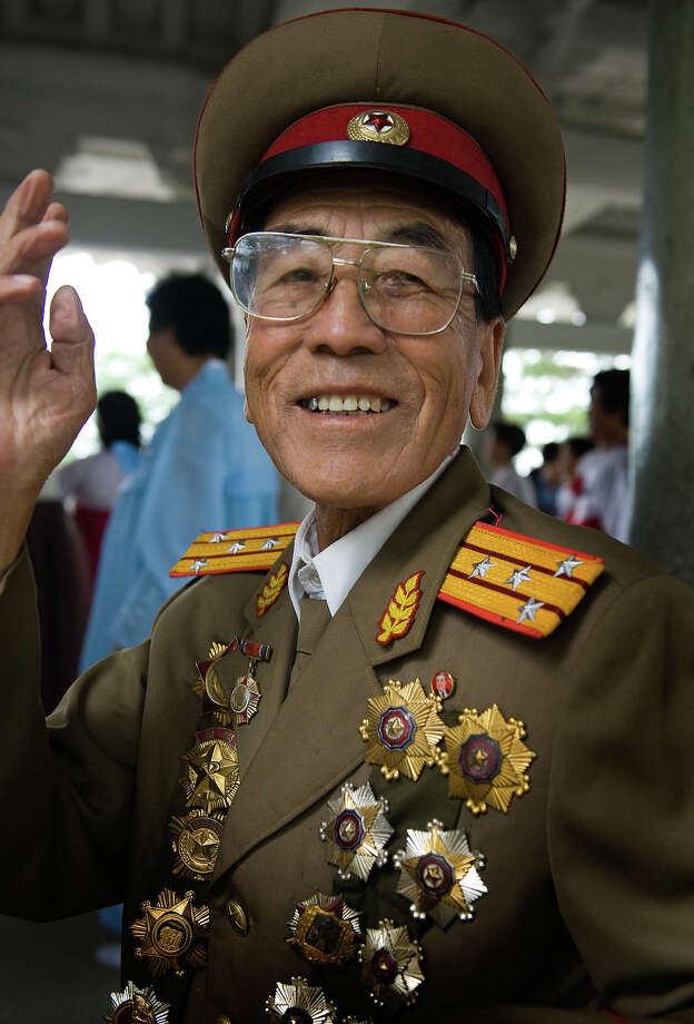 A North Korean military veteran celebrates National Day in Moranbong Park on September 14, 2011 in Pyongyang, North Korea. Photo: Mark Edward Harris, Getty Images / 2011 Mark Edward Harris