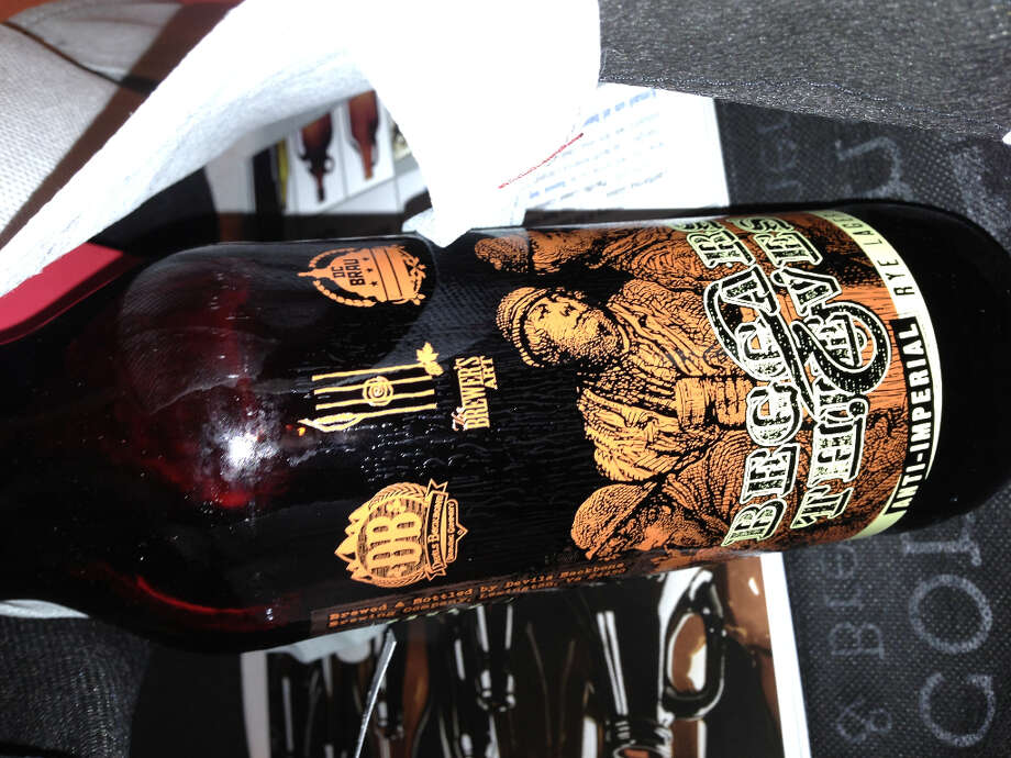 This locally made anti-imperial rye lager was included in conferees' goodie bags.