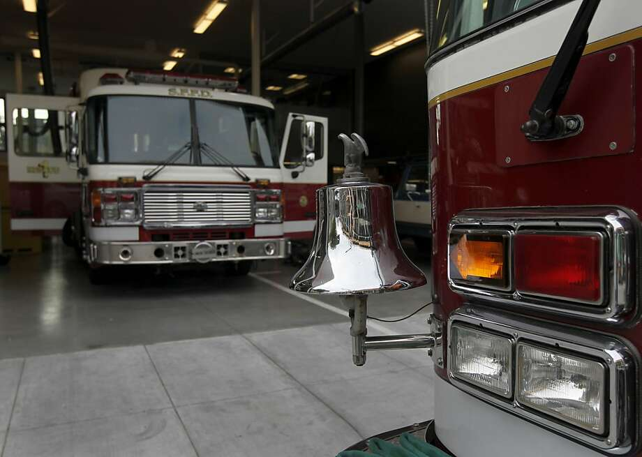 Fire Station Number 1 was quiet Wednesday on the eve of its opening, but its first call came in shortly after service started. Photo: Paul Chinn, The Chronicle