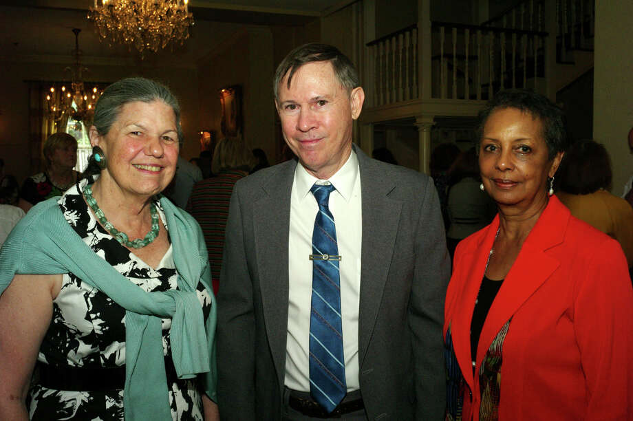 Sally Buchanan, from left, Patrick Dearen and Barbara Lawrence at the Conservation Society Publication Awards at the Argyle on 3/22/2013. This is #3 of 3 photos. names checked photo by leland a. outz Photo: LELAND A. OUTZ, SPECIAL TO THE EXPRESS-NEWS / SAN ANTONIO EXPRESS-NEWS