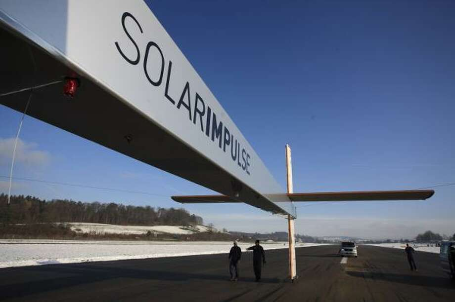 The Solar Impulse in Fuselage, Switzerland in 2009.