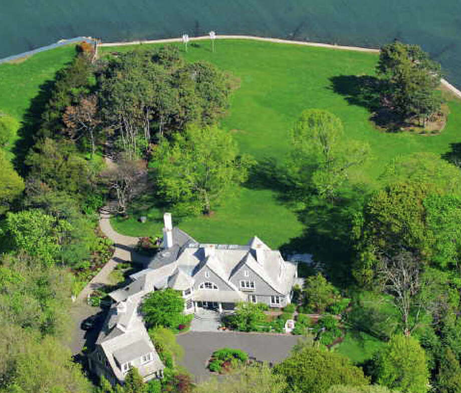 This Beachside Avenue waterfront estate is on the market for $27.5 million. Photo: Contributed Photo / Westport News contributed