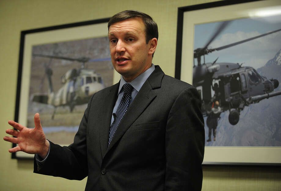 U.S. Senator Chris Murphy addresses the issue of sequestration during a visit to Sikorsky Aircraft in Stratford, Conn. on Wednesday, March 27, 2013. Photo: Brian A. Pounds / Connecticut Post