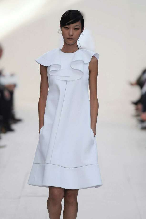 A model walks the runway at the Chloe Spring Summer 2013 fashion show during Paris Fashion Week on October 1, 2012 in Paris, France. Photo: Chris Moore/Catwalking, Getty Images / 2012 Catwalking