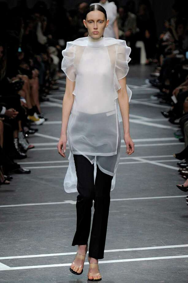 A model walks the runway at the Givenchy Spring Summer 2013 fashion show during Paris Fashion Week on September 30, 2012 in Paris, France. Photo: Karl Prouse/Catwalking, Getty Images / 2012 Catwalking