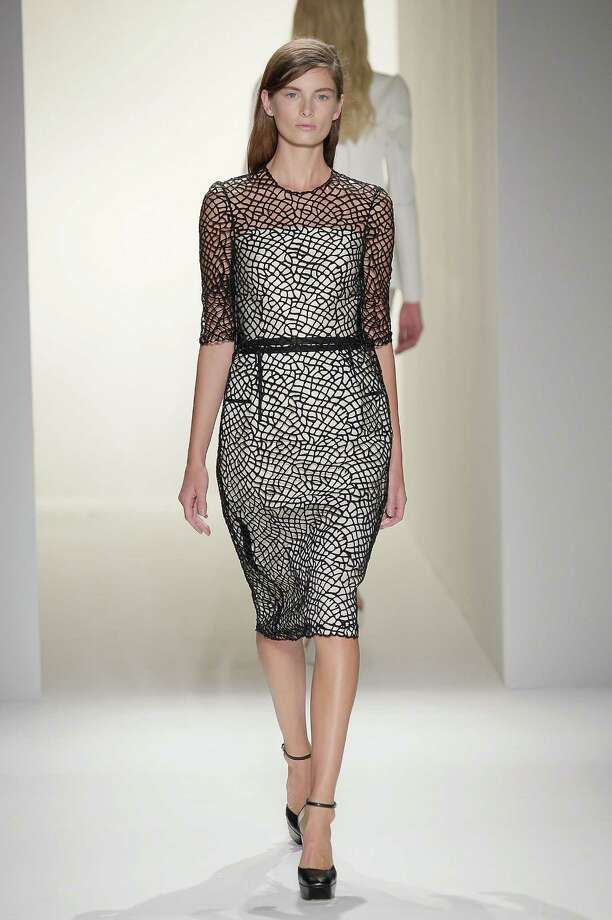 A model walks the runway during the Calvin Klein Collection show during Spring 2013 Mercedes-Benz Fashion Week on September 13, 2012 in New York City. Photo: Randy Brooke, WireImage / 2012 Randy Brooke