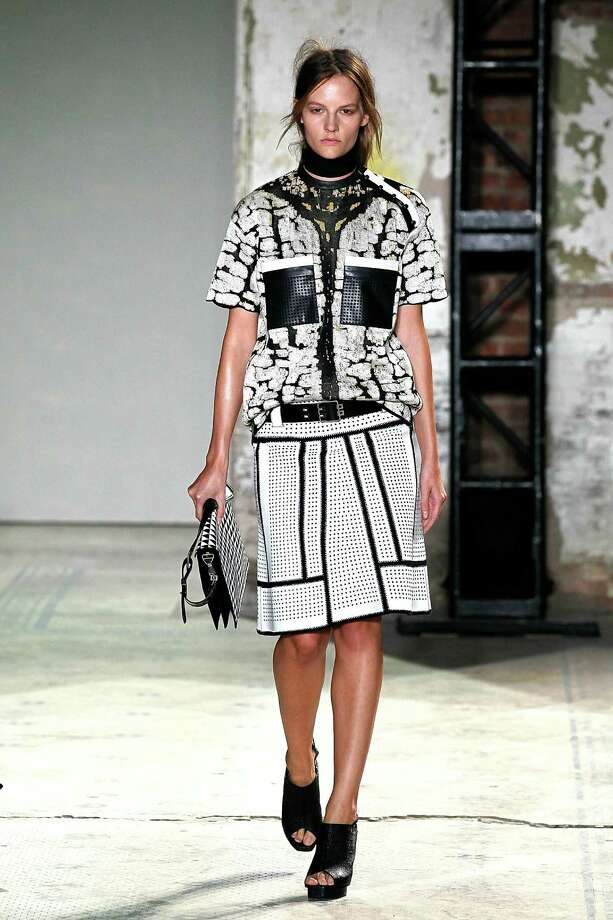 A model walks the runway at the Proenza Schouler Spring 2013 fashion show, at 5 Beekman on September 12, 2012 in New York City. Photo: Peter Michael Dills, Getty Images / 2012 Getty Images