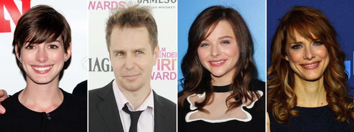 Actors Anne Hathaway, Sam Rockwell and Chloe Moretz are in
