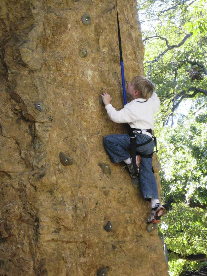 The H-E-B Body Adventure Food & Fitness Family Day will include a climbing wall and more. Photo: Courtesy Photo