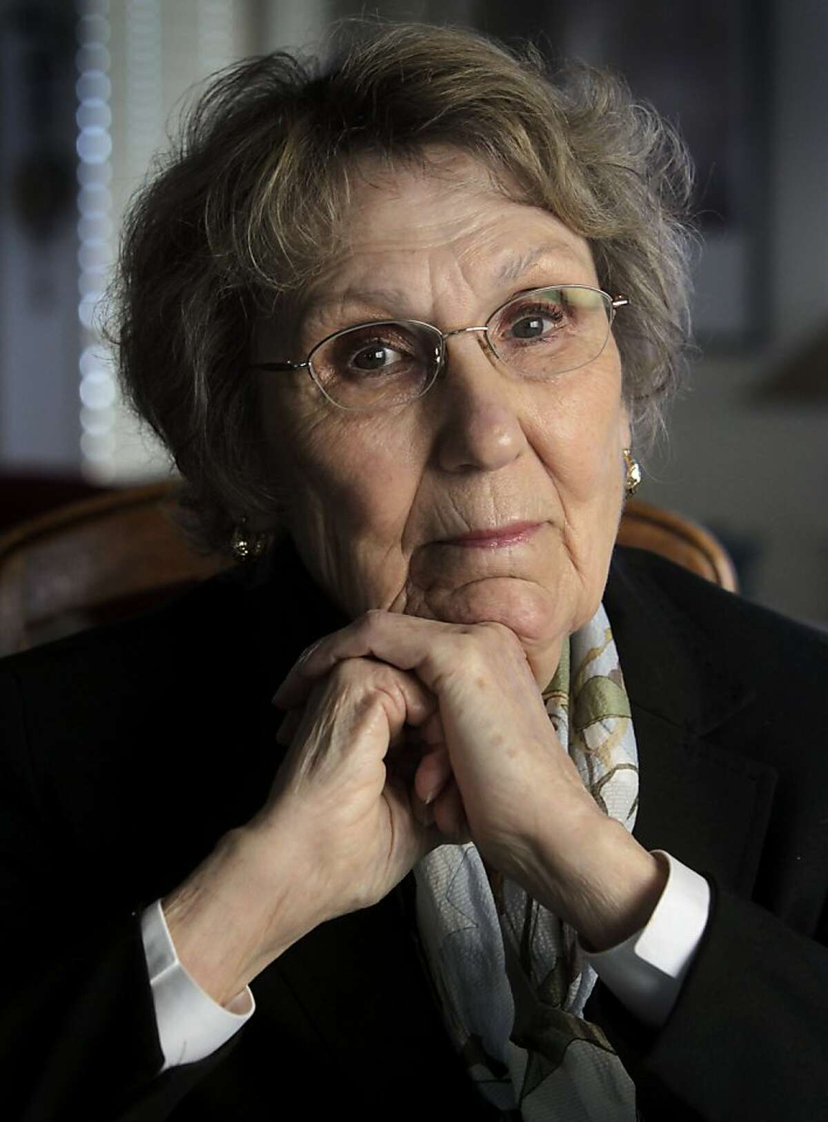 Helen Karr is seen at her San Mateo County home on Tuesday, March 26, 2013. Karr is a special assistant for the San Francisco District Attorney's office in elder financial abuse cases.