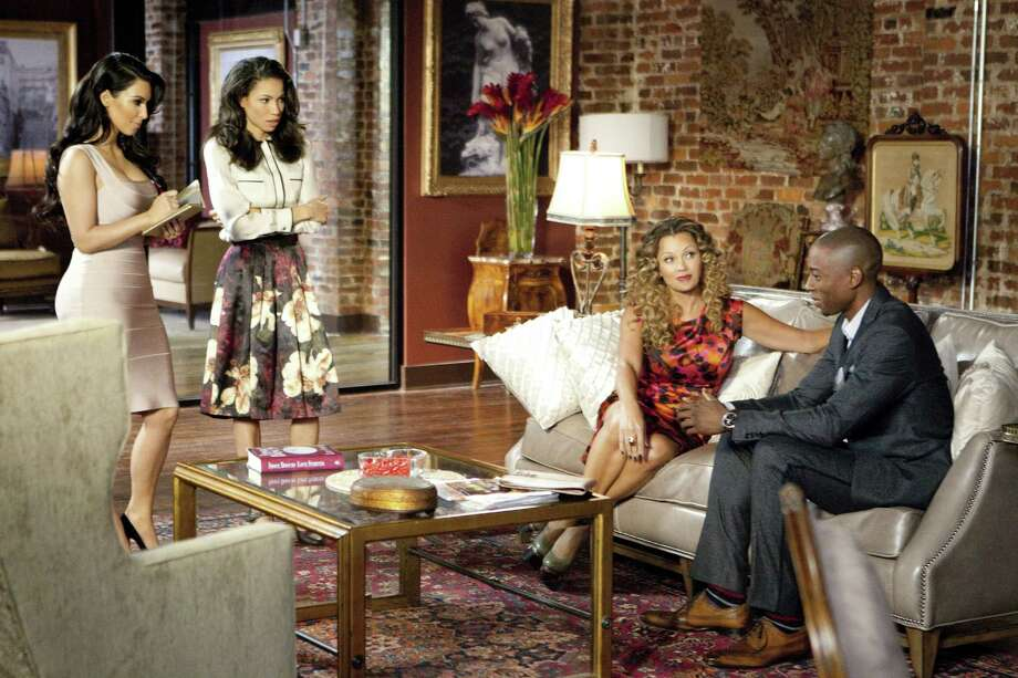 """Tyler Perry's Temptation,"" about the perils of unfaithfulness, stars Kim Kardashian (from left), Jurnee Smollett-Bell, Vanessa Williams and Robbie Jones. Photo: Lionsgate"
