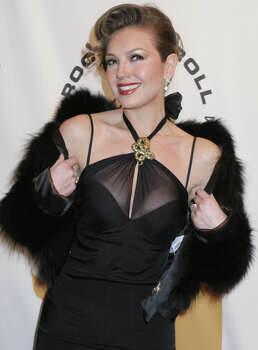 "Thalia at the ""2005 Rock and Roll Hall of Fame Induction Ceremony"" at New York's Waldorf-Astoria Monday March 14, 2005.  (AP Photo/Tina Fineberg) Photo: TINA FINEBERG, STR / AP"
