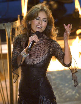 Mexico's Thalia performs during the 3rd annual Latin Grammy Awards Wednesday, Sept. 18, 2002, in the Hollywood district of Los Angeles. (AP Photo/Kevork Djansezian) Photo: KEVORK DJANSEZIAN, STF / AP