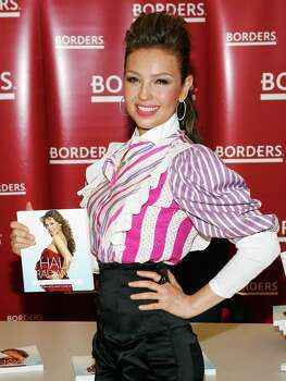 "Singer Thalia promotes ""Radiante: The Ultimate Guide to a Fit and Fabulous Pregnancy"" at Borders Penn Plaza on June 11, 2009 in New York City. (Photo by Amy Sussman/Getty Images) Photo: Amy Sussman, Stringer / Getty Images North America"