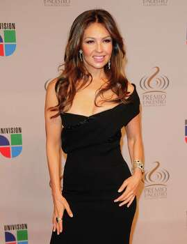 MIAMI - FEBRUARY 18:  Thalia arrives at Univisions 2010 Premio Lo Nuestro a La Musica Latina Awards at The American Airlines Arena on February 18, 2010 in Miami, Florida.  (Photo by Vallery Jean/Getty Images) Photo: Vallery Jean, Stringer