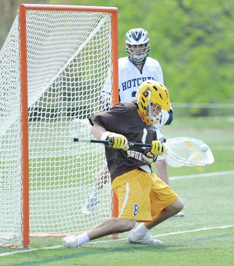 Goalie Tommy Heidt returns for the Bruins this season. Photo: Bob Luckey / Greenwich Time