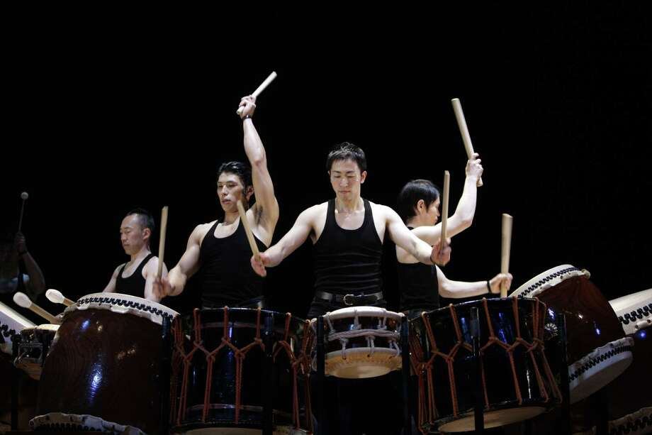 Kodo, a troupe of Japanese drummers, comes to Proctors at 8 p.m. Friday in Schenectady. Click here for more information. (Takashi Okamoto)