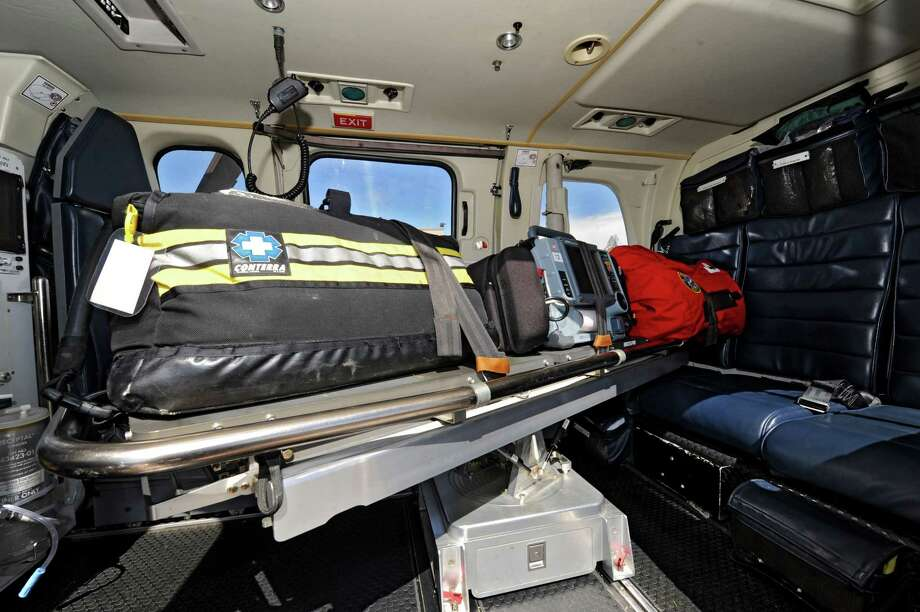 Medical equipment in a helicopter outside the State Police aviation hanger on Wednesday, March 27, 2013 in Colonie, N.Y.  (Lori Van Buren / Times Union) Photo: Lori Van Buren