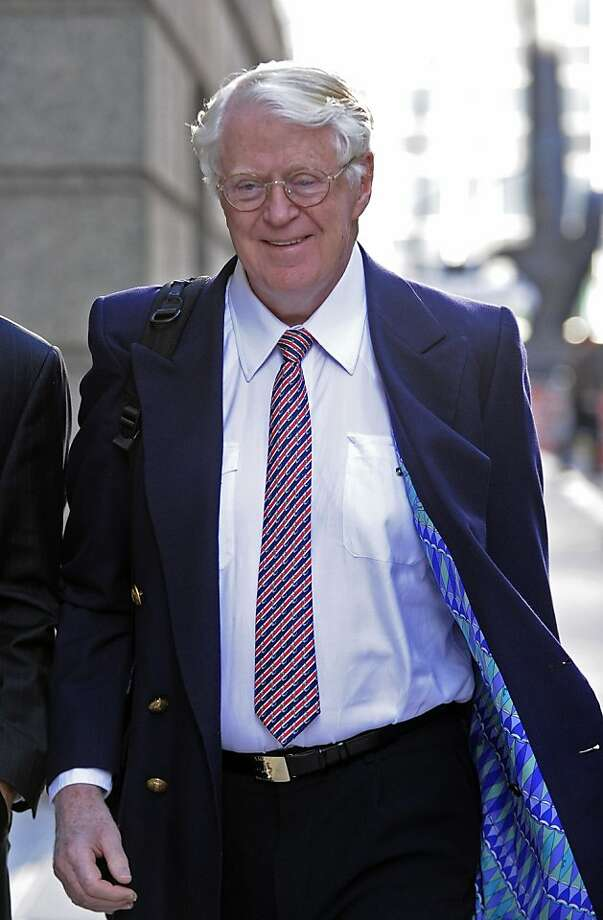 Florida energy magnate William Koch arrives at Manhattan federal court, Wednesday, March 27, 2013, in New York. Koch alleges in a federal lawsuit that California businessman Eric Greenberg sold him $300,000 in vintage wine, some of it supposedly dated to 1805, that turned out to be phony. (AP Photo/Louis Lanzano) Photo: Louis Lanzano, Associated Press