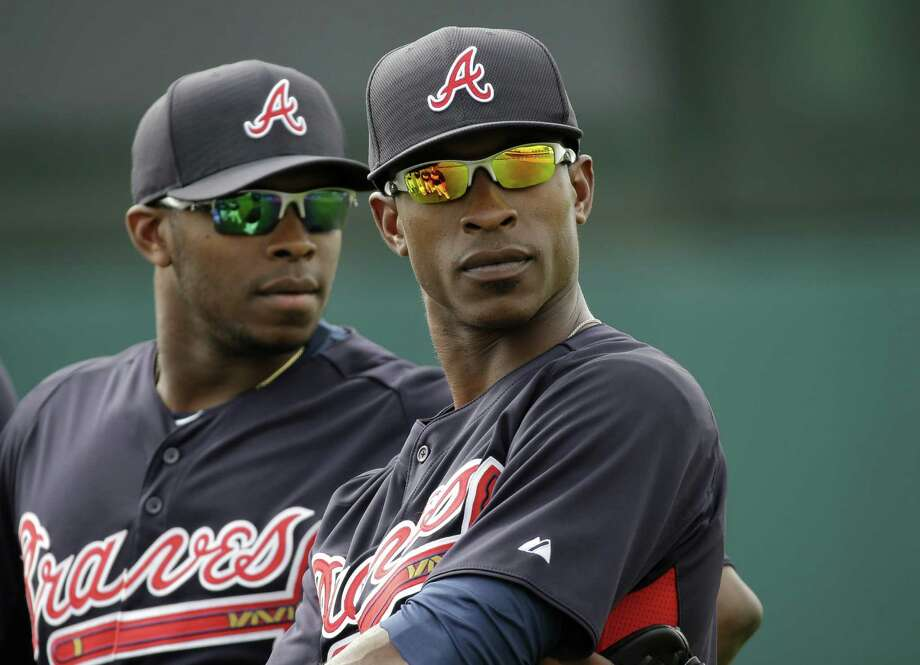 The Braves hope adding Justin (left) and B.J. Upton will spark the offense and shore up the outfield. They're the only brothers in MLB history to be drafted one and two in the first round. Photo: David J. Phillip / Associated Press