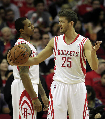 March 27: Pacers 100, Rockets 91Chandler Parsons expresses his frustration during a loss to the Pacers. Photo: James Nielsen, Houston Chronicle / © 2013 Houston Chronicle