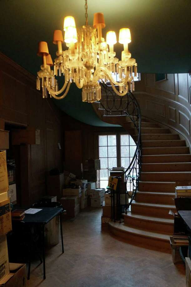 The foyer of the Baron's South mansion. Photo: Paul Schott / Westport News