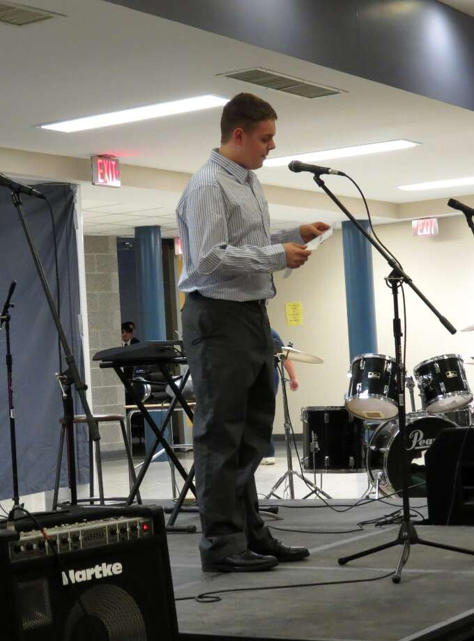 Ryan McCormick, sophomore, hosted the event. Photo by Jenna Colozza Photo: Picasa