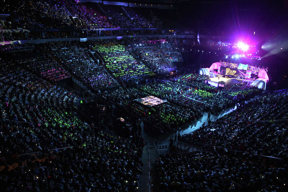 A packed KeyArena is shown during We Day. Photo: JOSHUA TRUJILLO / SEATTLEPI.COM