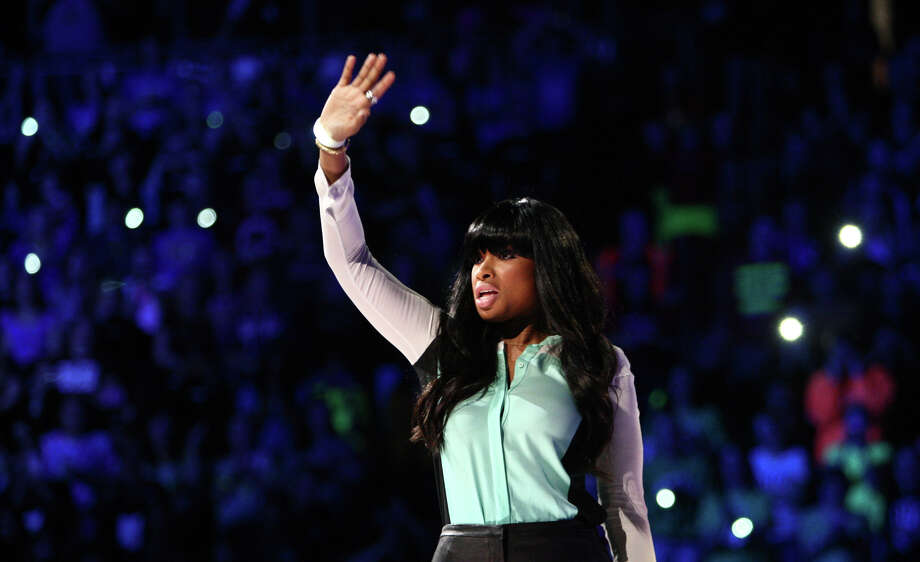 Performer Jennifer Hudson waves to the audience during We Day. Photo: JOSHUA TRUJILLO / SEATTLEPI.COM
