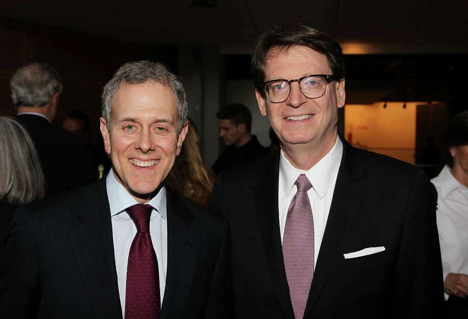 "WASHINGTON, DC - MARCH 14:  Hearst President and COO Steve Swartz and James Duff, President and CEO, The Newseum,  attend ""Citizen Hearst"" screening at The Newseum on March 14, 2013 in Washington, DC.  (Photo by Paul Morigi/Getty Images for HEARST) Photo: Paul Morigi, Stringer / 2013 Getty Images"