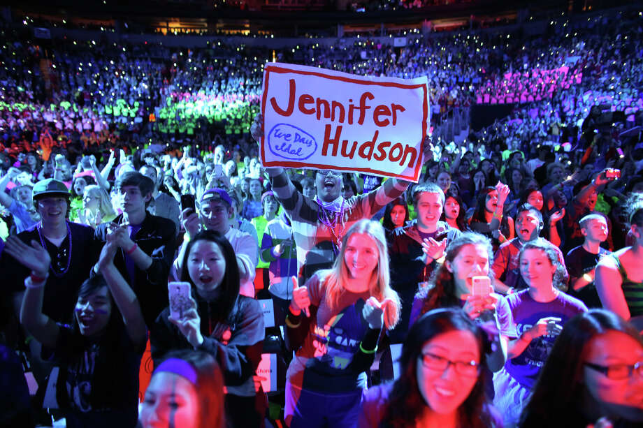 Fans cheer for Jennifer Hudson during We Day. Photo: JOSHUA TRUJILLO / SEATTLEPI.COM