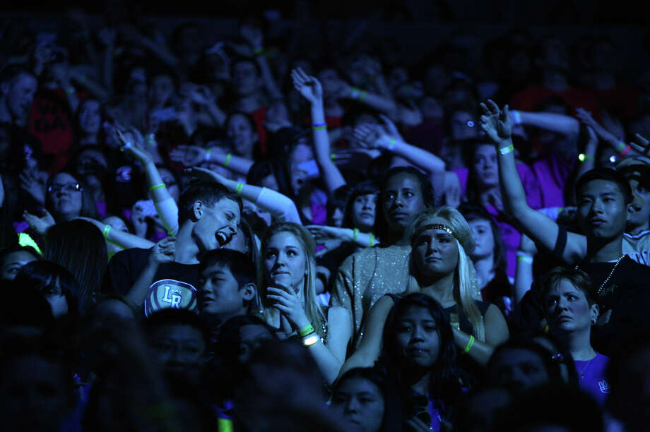 Participants have fun during We Day. Photo: JOSHUA TRUJILLO / SEATTLEPI.COM