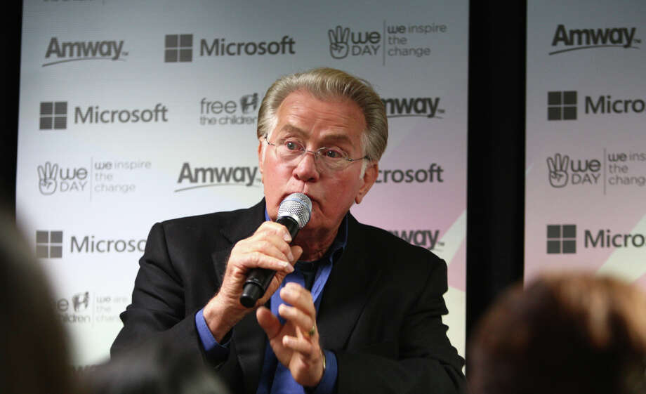 Actor Martin Sheen speaks during a press conference at We Day. Photo: JOSHUA TRUJILLO / SEATTLEPI.COM