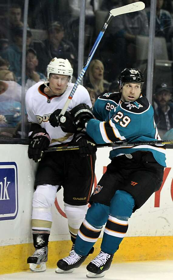 Ryane Clowe, 30, a Shark for eight seasons, had averaged 21 goals and 54 points over the past four. Photo: Lance Iversen, The Chronicle