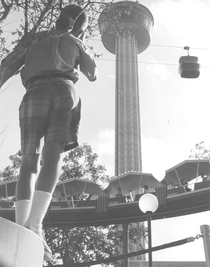 """The Fair is a Moving Thing"" is the title of this undated photo from HemisFair '68, taken by retired Maj. Gen. Joe Lawrie. Photo: Courtesy Photo"