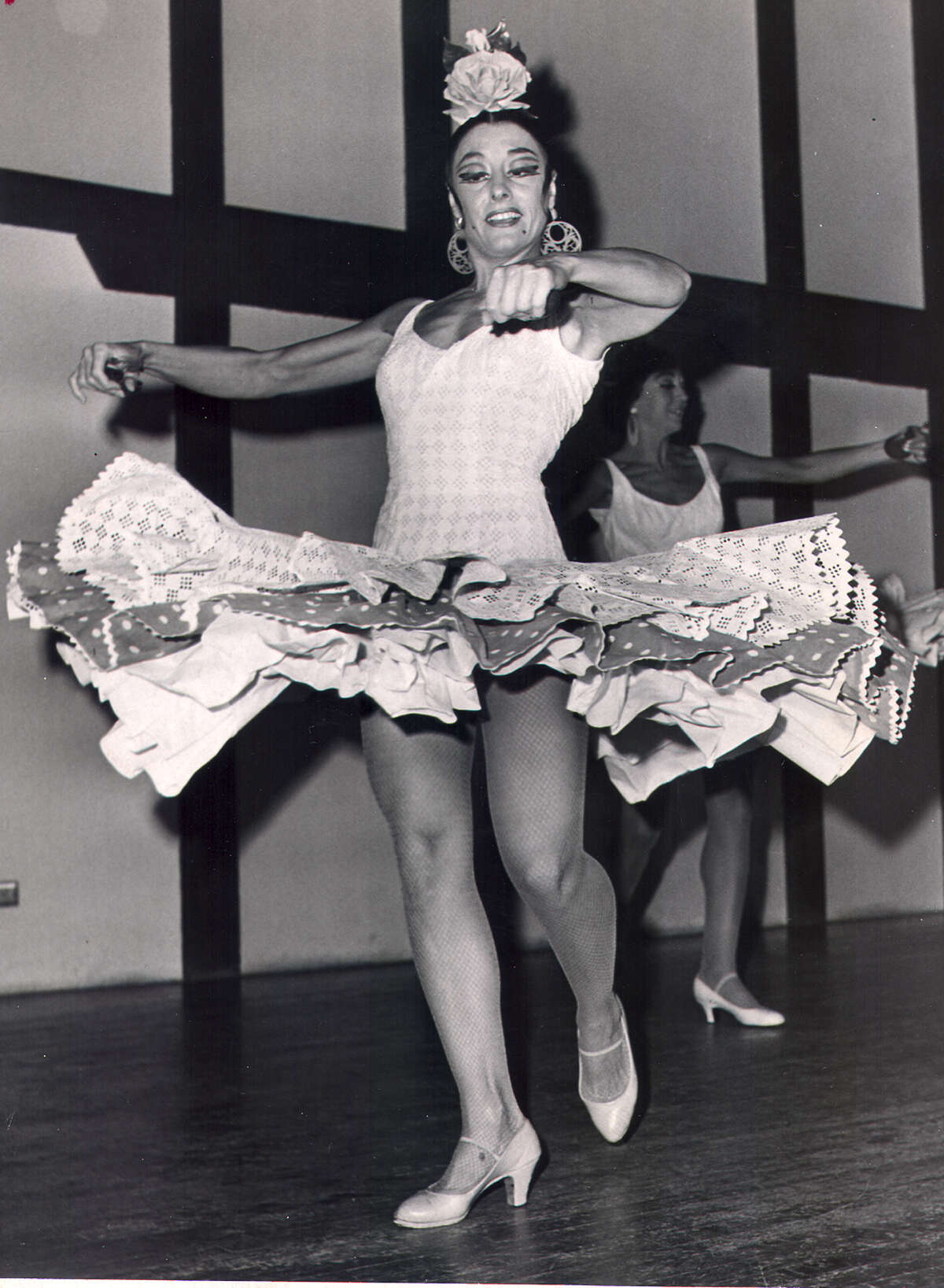Spanish dancer Carmen Rojas performs at HemisFair '68 on Aug. 6, 1968.