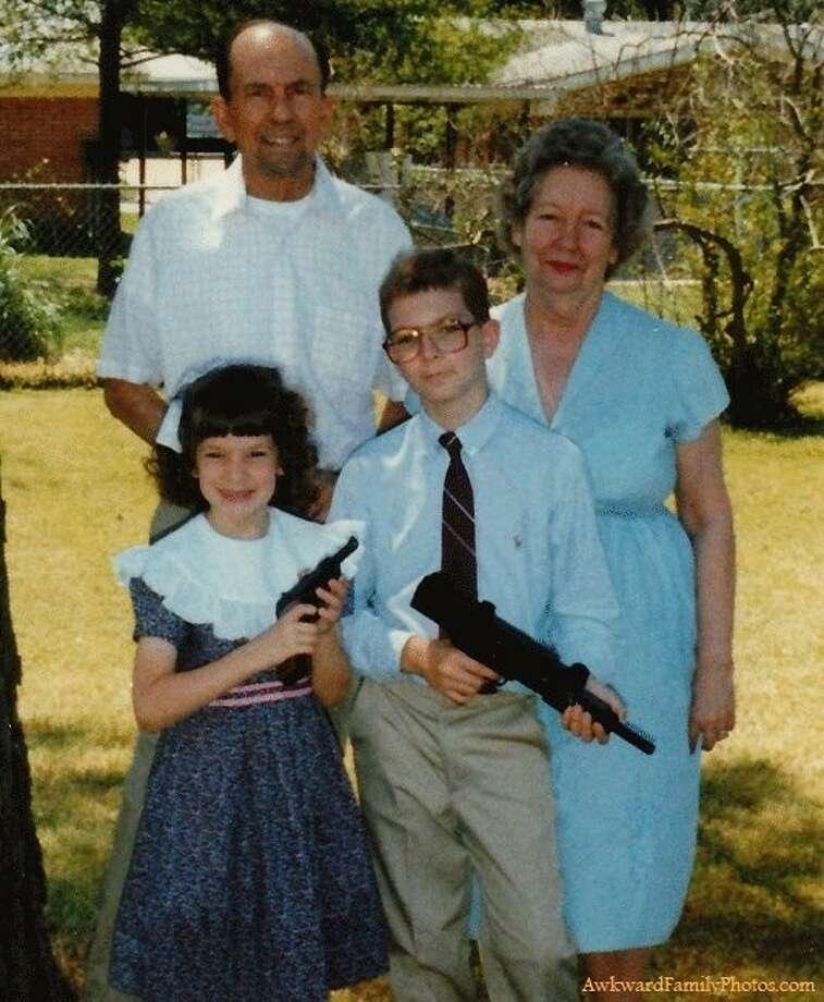 Who needs chocolate bunnies when you can have a gun?(Awkward Family Photos / awkwardfamilyphotos.com)