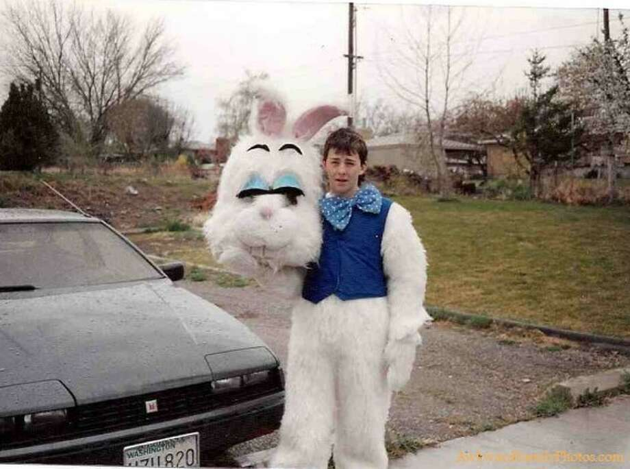 It's not easy being an Easter bunny.