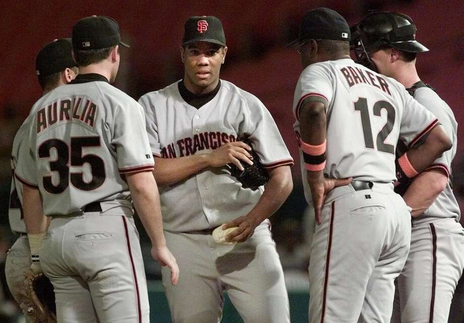 LIVAN HERNANDEZ (2000-2002): Hernandez switched teams 11 times in 17 years as a major leaguer and his three and a half years with the Giants was his longest tenure. Hernandez was 12-16 in 2002, but the other pitchers stepped up during the team's National League championship year. Photo: TONY GUTIERREZ, Associated Press / AP