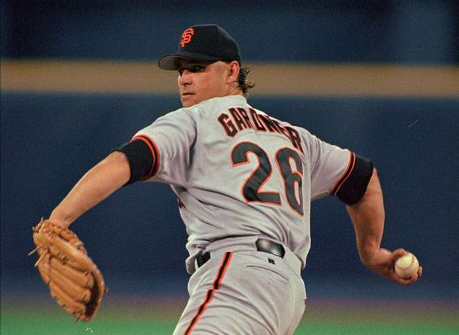 MARK GARDNER (1997, 1999): A journeyman who didn't make his major league debut until age 27, Gardner had his greatest success as a Giant in the latter part of his 30s. His ERA was in the 4.50 range over five years, but he won 11 or more games four times. Photo: GENE J. PUSKAR, Associated Press / AP