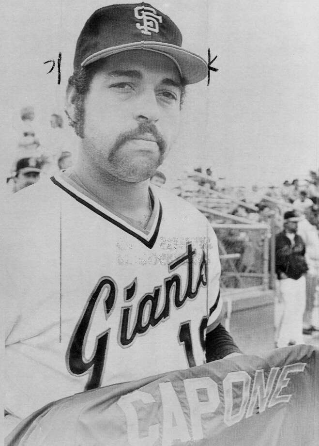 AL HOLLAND (1982): The career reliever only started 10 games with the Giants -- and 11 in his life. But he still deserves this honor based on the amazing mustache, and Capone jacket. (According to the caption on the AP photo, Holland refused to explain the meaning.) Photo: Associated Press / ONLINE_YES
