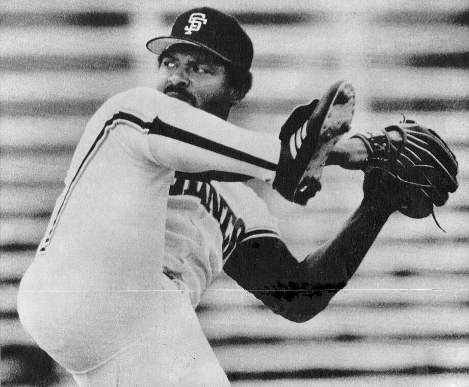 VIDA BLUE (1979, 1981): Blue also pitched two Opening Days for the Oakland A's, winning one of losing one for each team. He was 31 by the time this photo was taken in 1981, but still able to contort his body into his patently pretzel cannon. I suspect he can still do it at age 63 ... Photo: Associated Press / ONLINE_YES