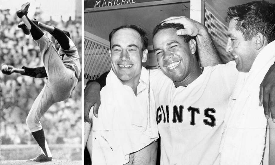 JUAN MARICHAL (1962, 1964-69, 1971-73): Shown here in 1965, in the middle of his amazing run as a Giants Opening Day ace. In addition to his other accomplishments, Marichal was 7-3 in Opening Day starts, and one of the losses was a 1-0 complete game loss to the Pirates in 1965. Photo: Associated Press / ONLINE_YES