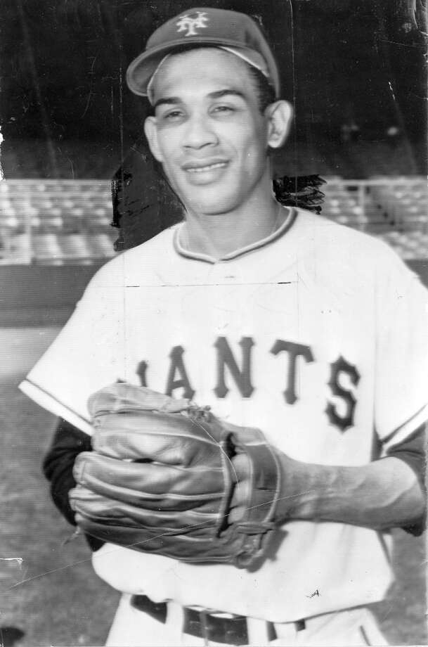 RUBEN GOMEZ (1958): Giants pitcher Ruben Gomez, shown here as a New York Giant, was the team's first opening day starter in 1958. Photo: Chronicle File / ONLINE_YES