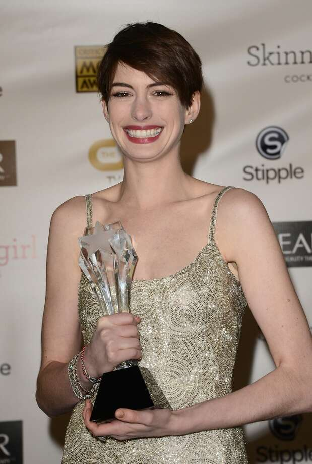 Anne Hathaway at the Critic's Choice Awards in January.
