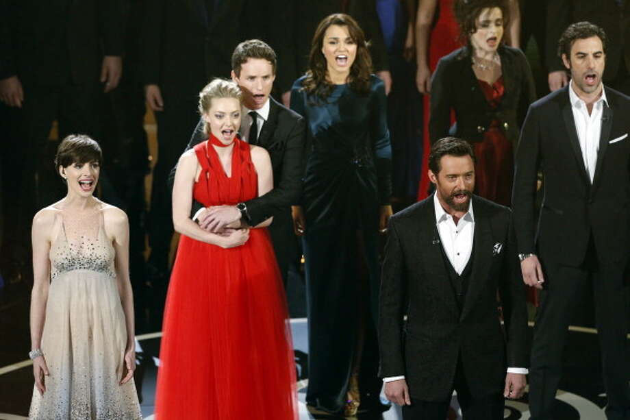 With the cast of LES MIS at the Oscars Photo: Craig Sjodin, ABC Via Getty Images / 2013 American Broadcasting Companies, Inc.