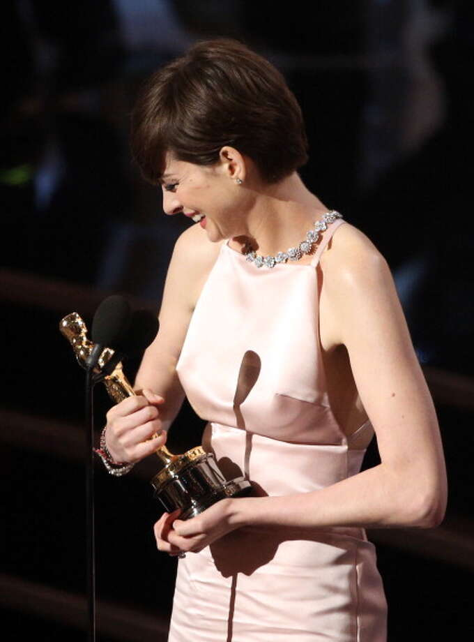 Then -- on February 24, 2013 -- it came true:  Anne Hathaway wins best supporting actress at the Academy Awards ceremony. Photo: Mark Davis, WireImage / 2013 WireImage