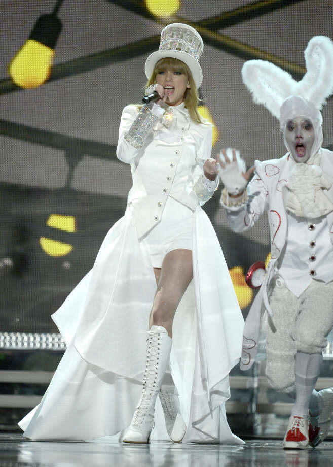 Musician Taylor Swift performs onstage during the 55th Annual GRAMMY Awards at STAPLES Center on February 10, 2013 in Los Angeles, California. (suggested by ctca) Photo: Kevin Winter, WireImage / 2013 WireImage